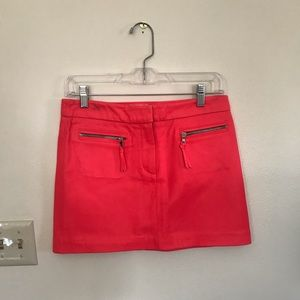 Milly Hot Pink Leather Mini Skirt